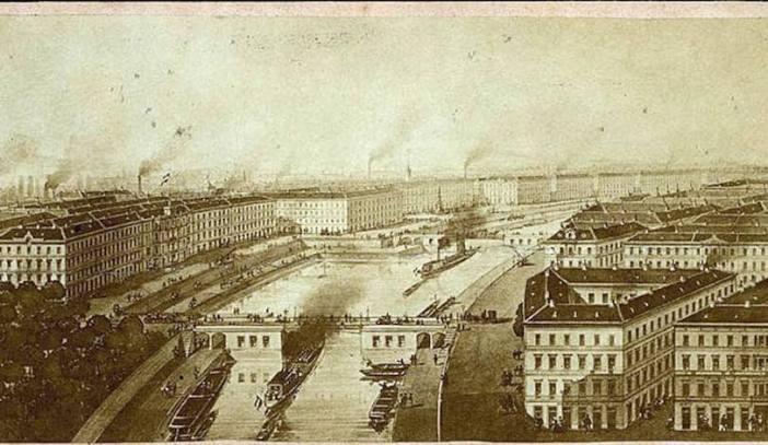 1865 maquette du canal avec ses ecluses à Pest