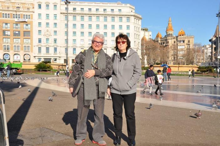 Jose pep lors d'une visite guidée en français à Barcelone
