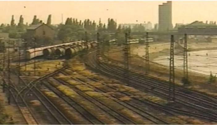 Pest gare de triage au bord de Danube en 1992
