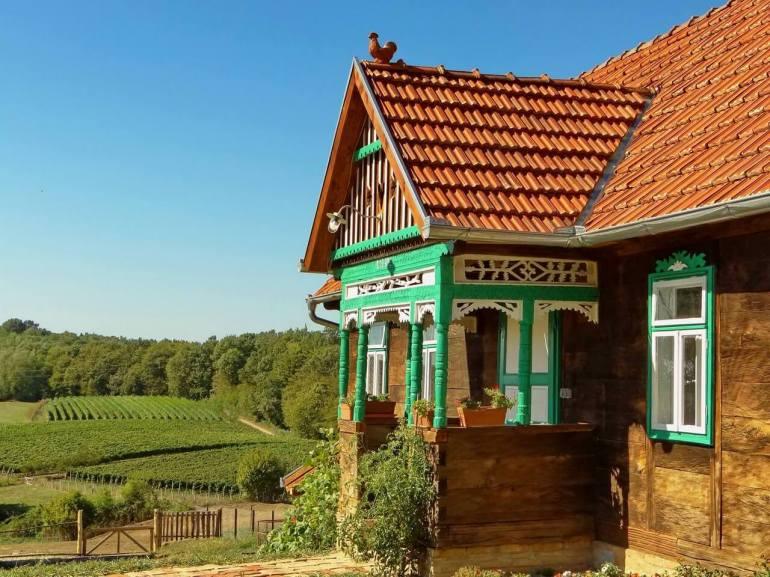Kezele vino vignes autour de l'etno restaurant Kezele