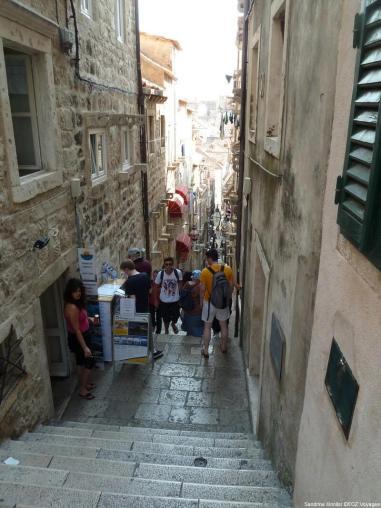 Ruelle en pente de Dubrovnik
