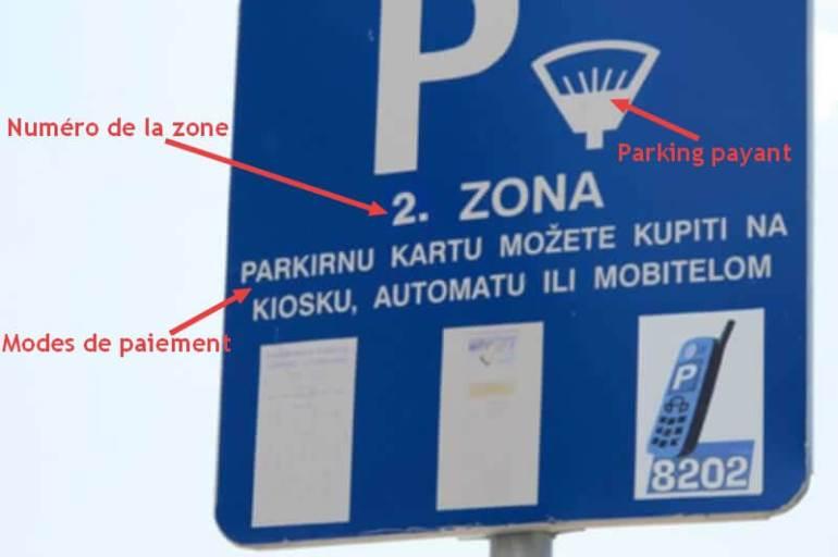 zone 2 parking public à Dubrovnik
