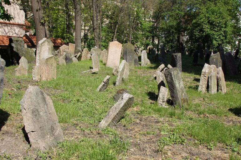 ancien ghetto juif de prague vieux cimetière