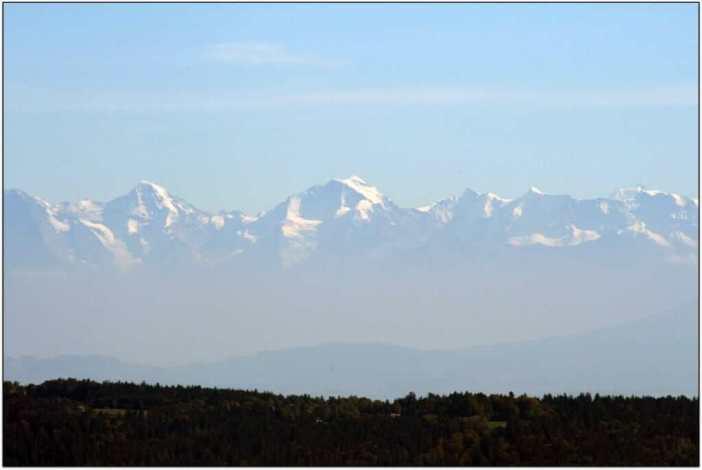 Suisse vue des Alpes