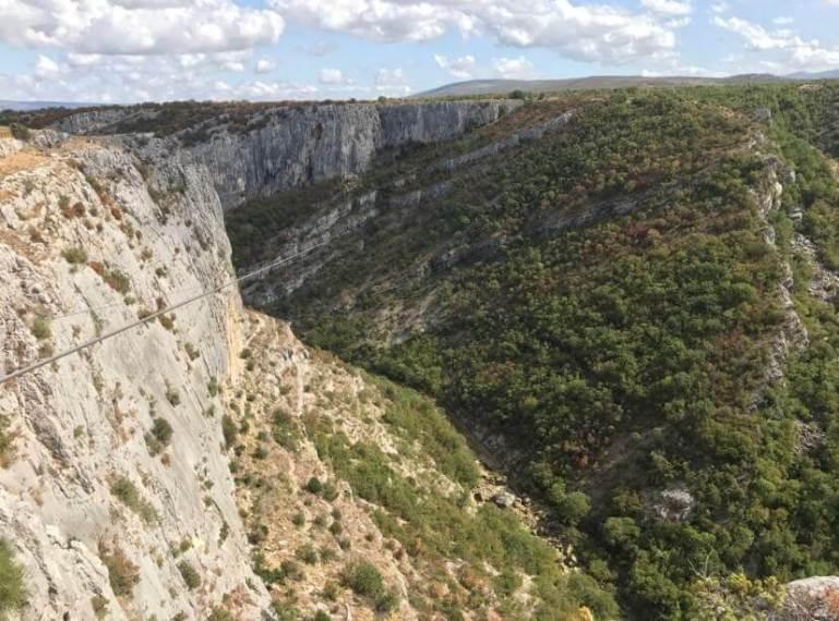 tyrolienne canyon cikola