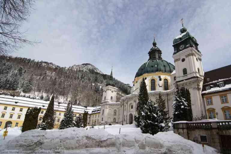 Abbaye Ettal en hiver