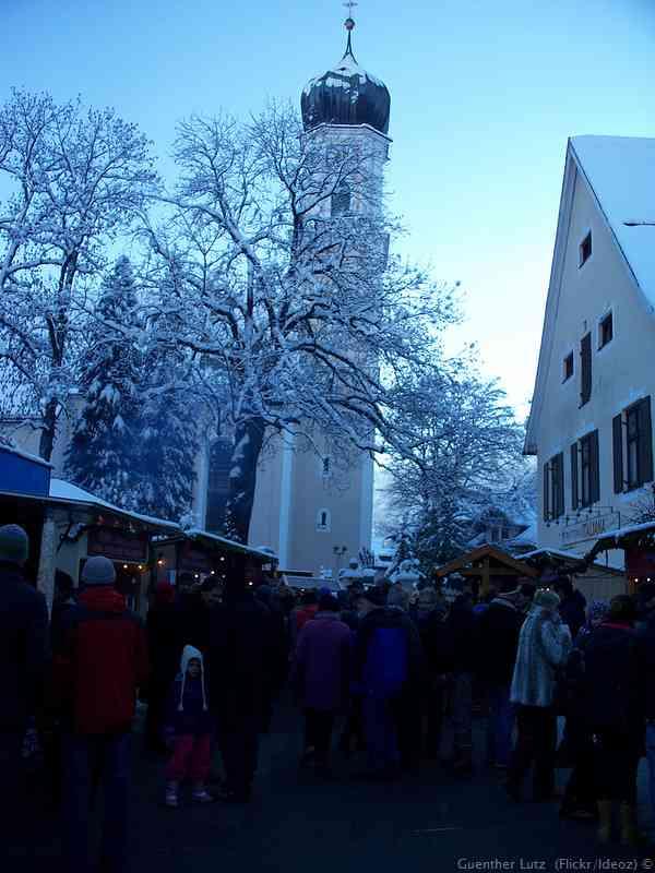 marché de Noël sur la Kirchplatz d'Oberammergau