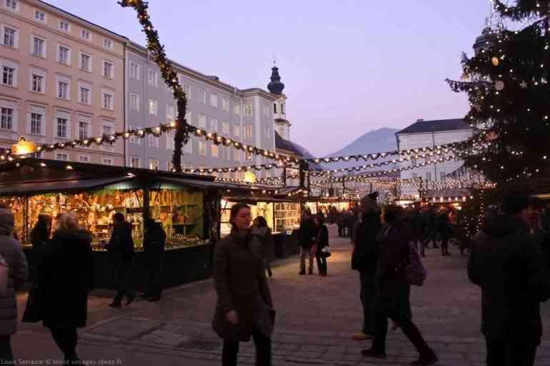 marché de noël de salzbourg sur la residenzplatz
