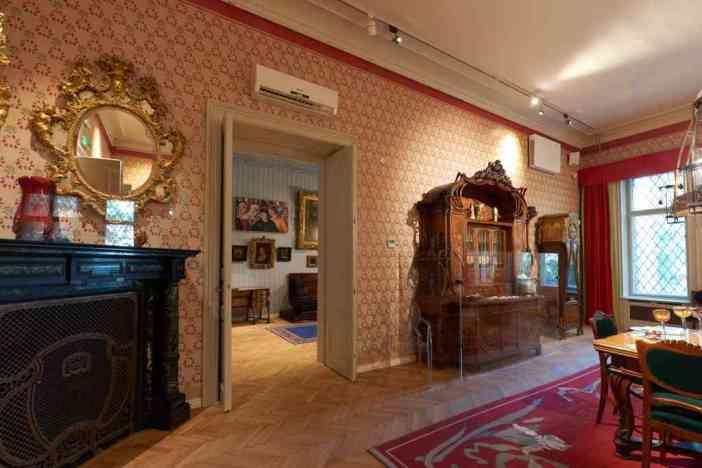 salle à manger art nouveau villa György Ráth à Budapest