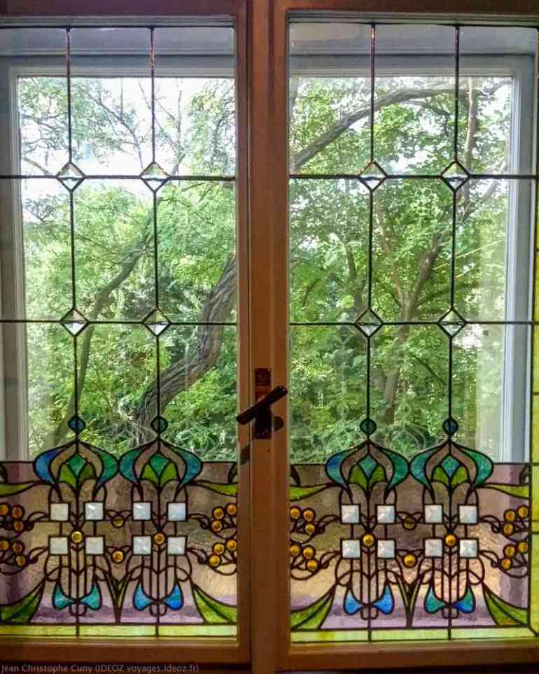 vitrail perspective hongroise Art Nouveau villa de György Ráth