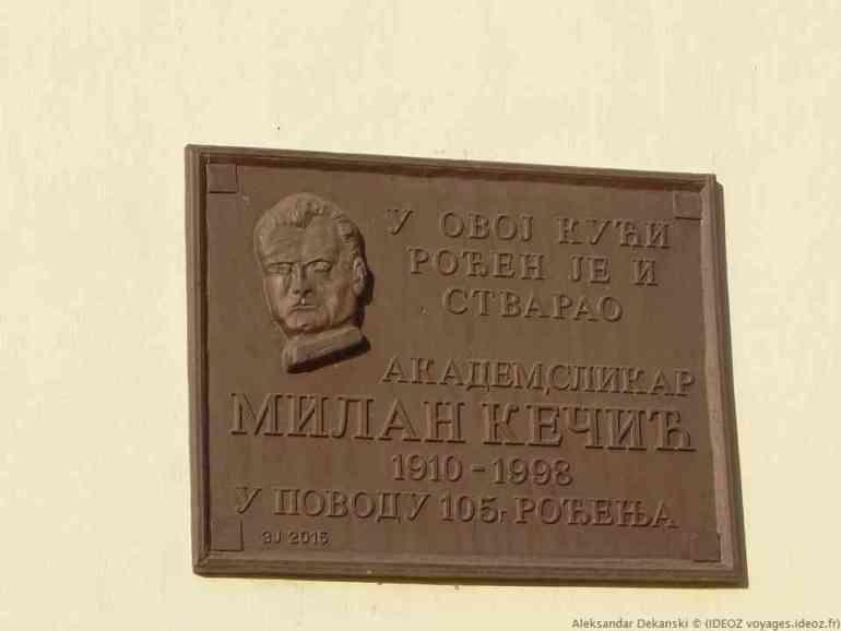 Krcedin plaque commémorative
