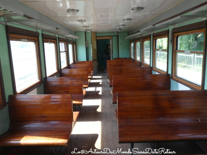 intérieur d'un train roumain
