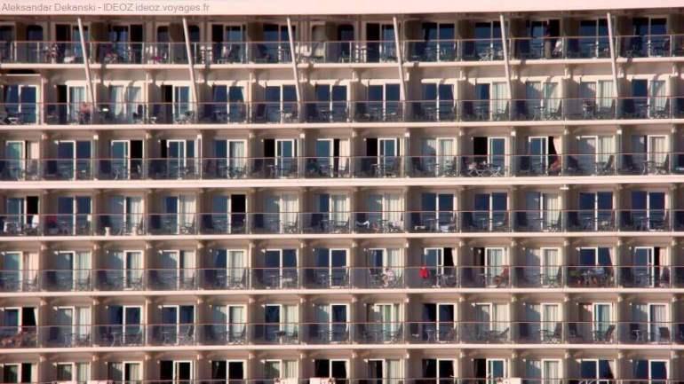 fenêtres du bateau de croisière à dubrovnik