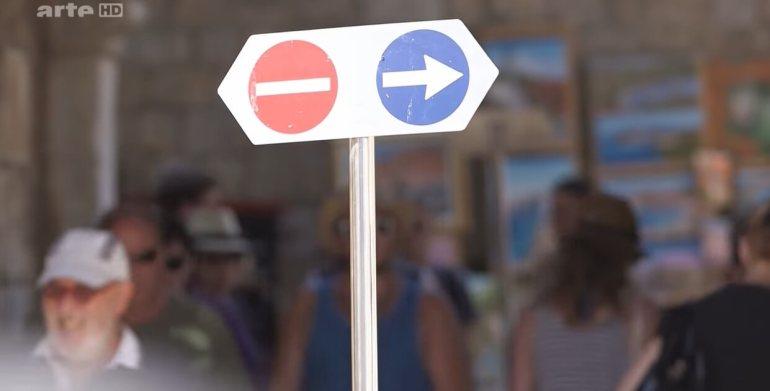 sens de circulation pour gérer les flux de touristes à dubrovnik