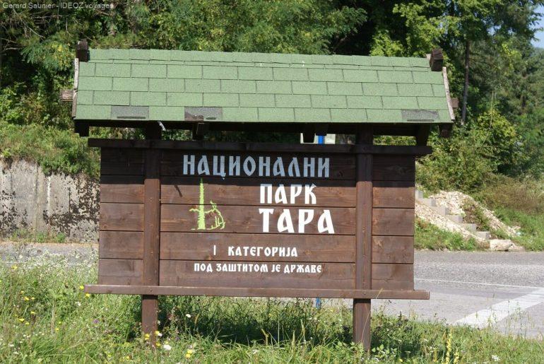 Entrée du parc national de Tara