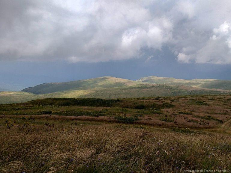 paysage de stara planina en Serbie