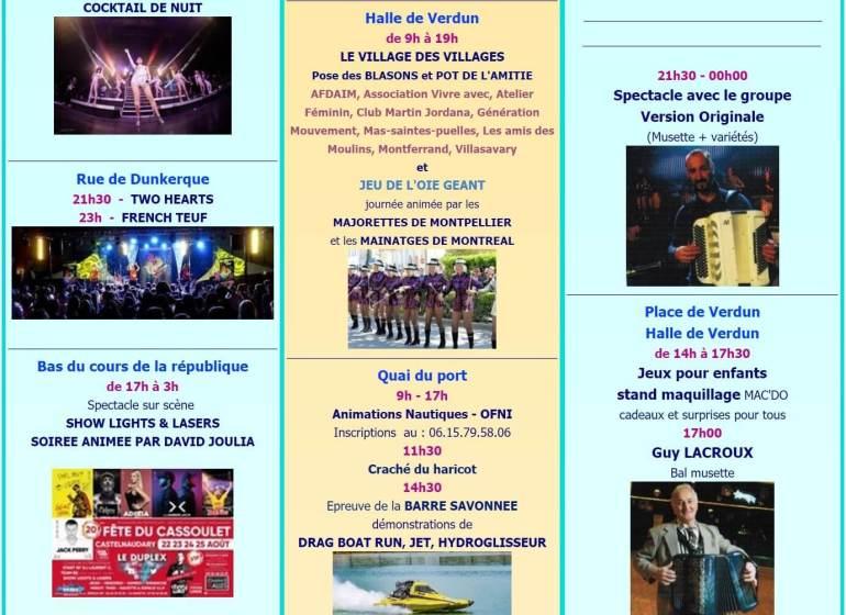 Fête du cassoulet de Castelnaudary ; 4 jours de folie du 22 au 25 Août 2019 33
