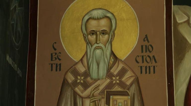 fresque d'un saint dans le monastère