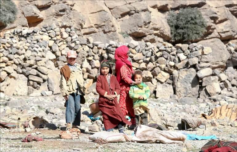 enfants nomades au maroc