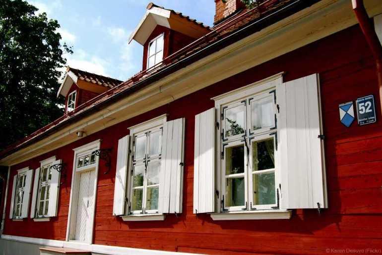 Maison dans le quartier de Kipsala à riga