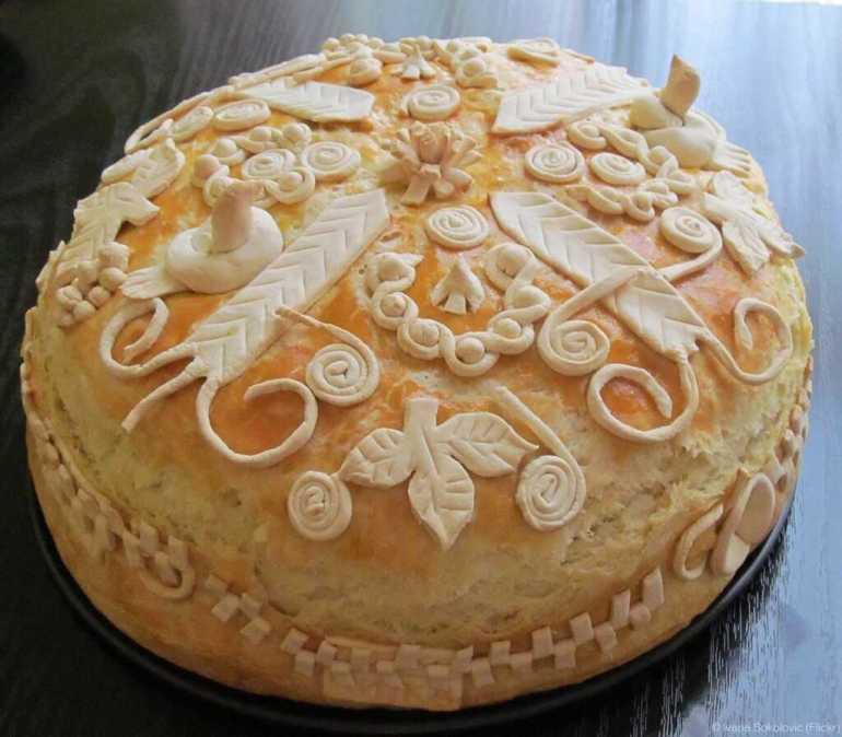 slavski kolac gâteau de la slava serbe