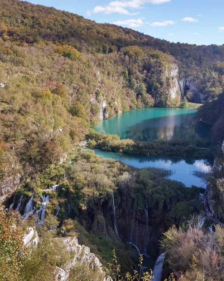 panorama sur les lacs inférieurs à plitvice