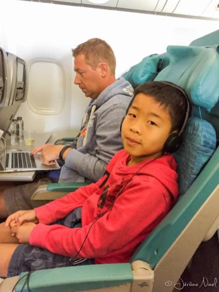 Dans l'avion pour Bali