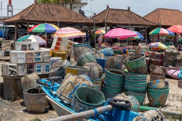 Jimbaran Fish Market - paniers