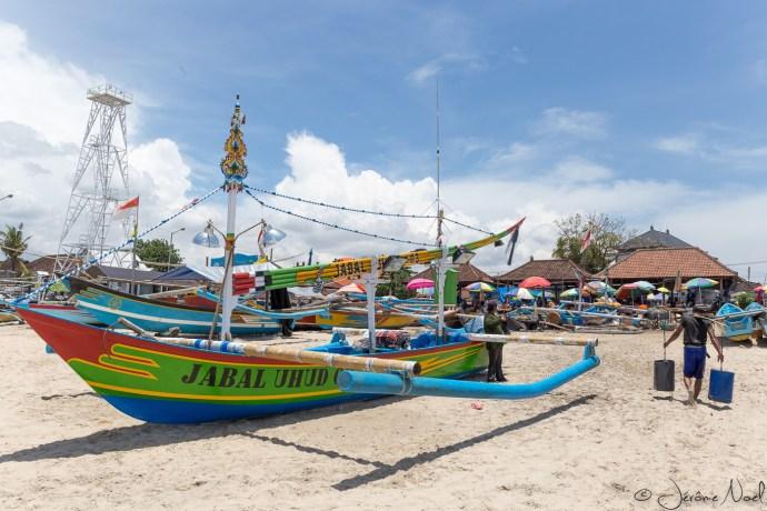 Plage de Jimbaran - Bateau de pêche