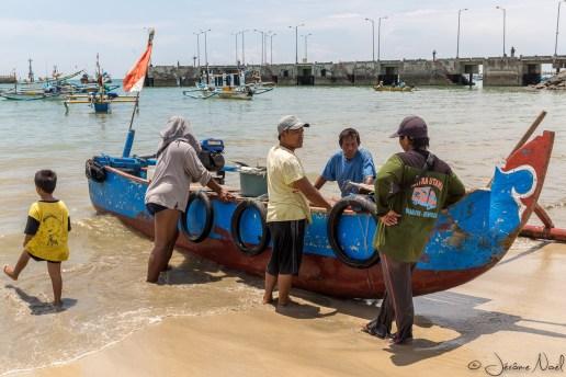 Plage de Jimbaran - Pêcheurs