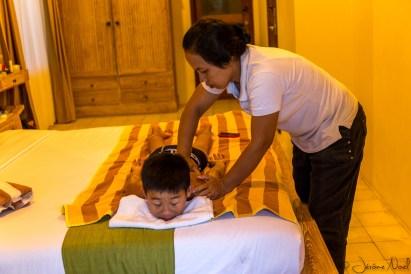Ubud - massage Luka face