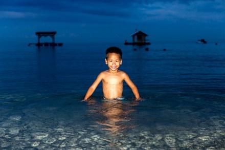 Taman Sari - Thomas dans la mer