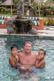 Taman Sari - dans la piscine