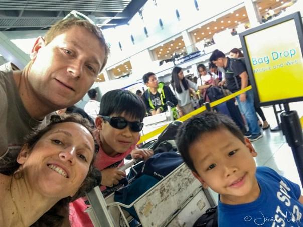 Aéroport Manille - bag drop
