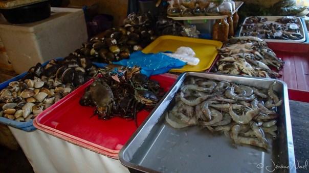 Sibulan Public Market - crustacés