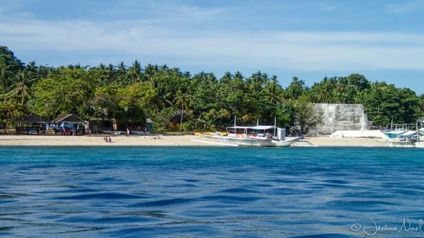 Arrivée sur l'île de Pamilacan