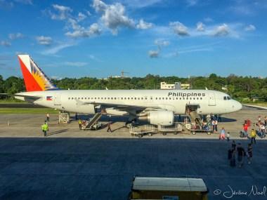 Notre avion pour Manille