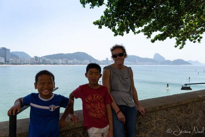 Copacabana depuis le Fort