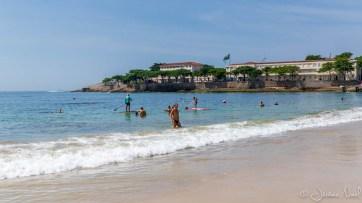 Forte de Copacabana depuis la plage