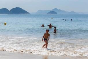 Première baignade à Copacabana
