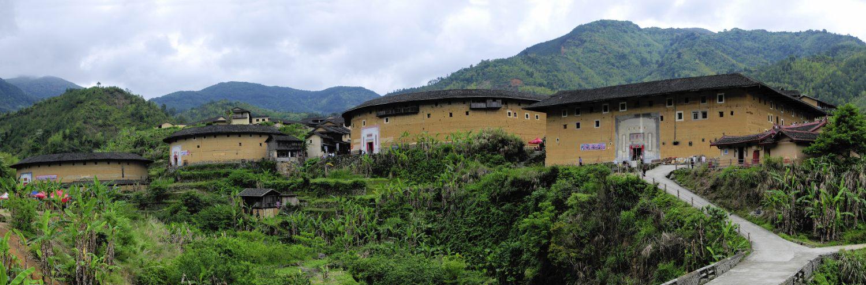 Le village Chūxī 初溪 et ses 8 Tǔ Lóu 土楼, Fujian, Chine