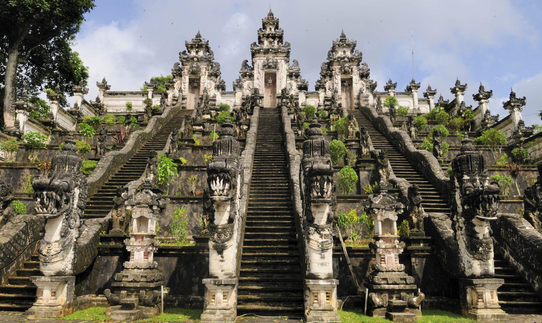 Le Pura Lempuyang, l'un des 9 temples directionnels de Bali, Indonésie