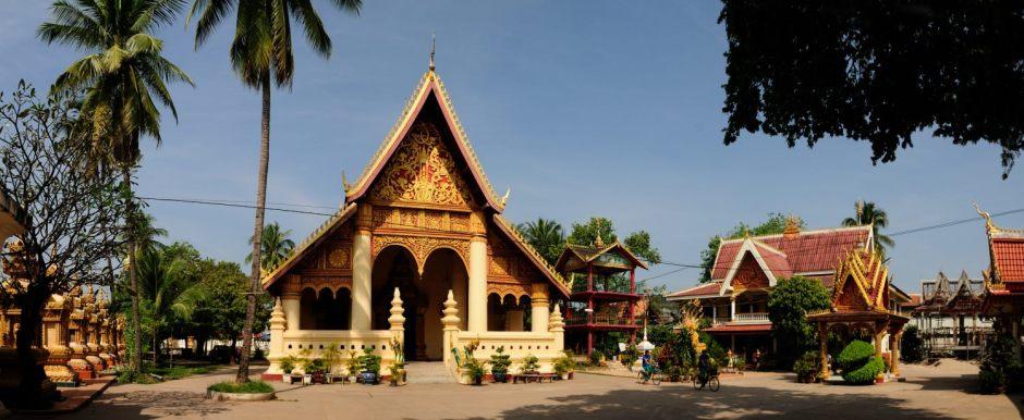 Visite de Vientiane, Laos : Temple Wat Chan, sur les rives du Mékong