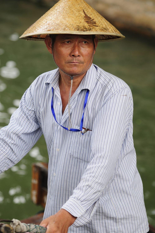 Batelier de Zhujiajio, Shanghai, Chine