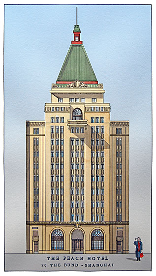 Sassoon House (1929), N°20, Le Bund, Shanghai (Peace Hotel, anciennement Cathay Hotel)