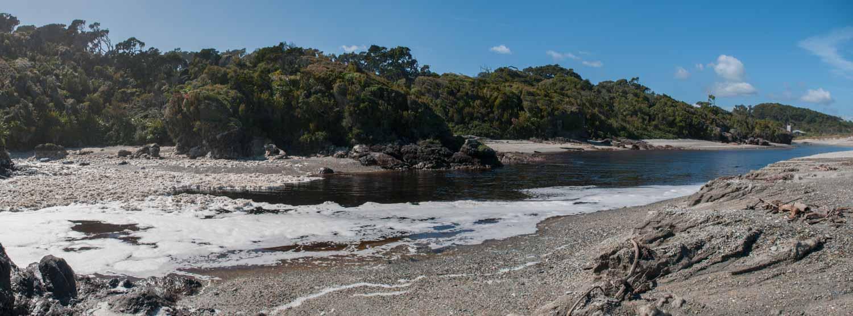 Route Haast Hokitika, Ile du Sud, Nouvelle-Zélande : Ship Creek, à proximité de Haast