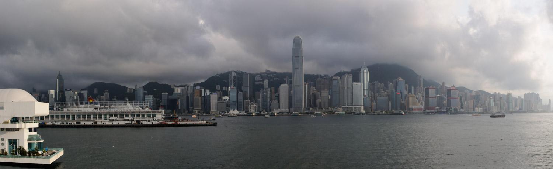L'île e Hong-Kong, vue du Victoria Harbour