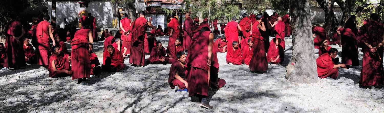 Monastère de Sera, Sè Lā Sì 色拉寺, Lhasa, Tibet : Test de connaissance