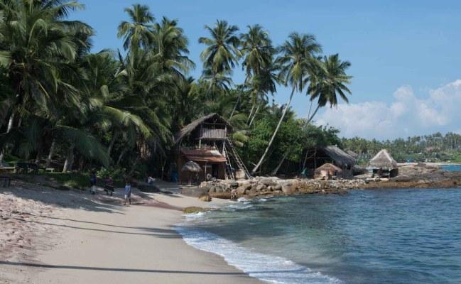 Plage Goyambokka, Tangalle, Sri Lanka : la petite crique
