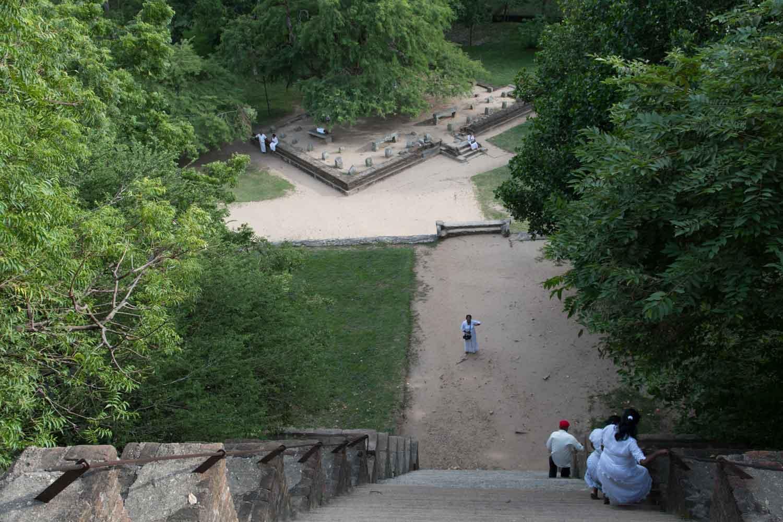 La forteresse de pierre Yapahuwa, Sri Lanka